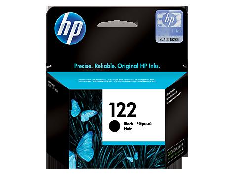 HP 122, Оригинальный струйный картридж HP, Черный