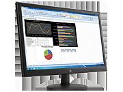 Ecran HP V241p à rétroéclairage LED de 23,6 pouces