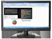 HP V241p 23.6-inch LED Backlit Monitor