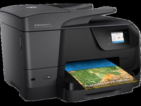 طابعة HP OfficeJet Pro 8710 All-in-One المتكاملة