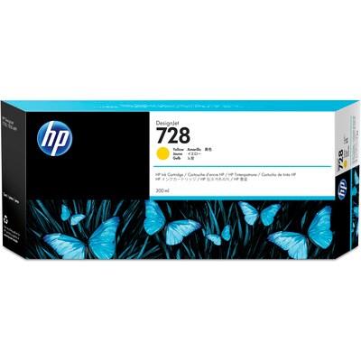 HP 728 300-ml Yellow DesignJet Ink Cartridge