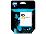 Cartucho de tinta amarilla HP 85 de 69 ml.