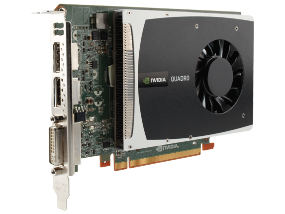 NVIDIA Quadro 2000 1.0GB Graphics Card (WS094AA) | HP® Middle East