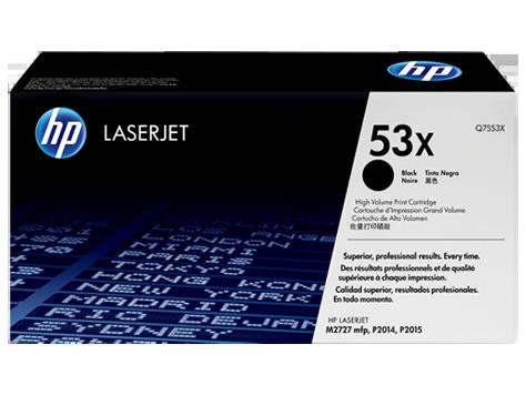 HP 53X, Оригинальный лазерный картридж HP LaserJet увеличенной емкости, Черный