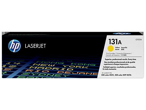 HP 131A, Оригинальный лазерный картридж HP LaserJet, Желтый