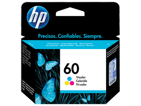 Cartucho original de tinta tricolor HP 60