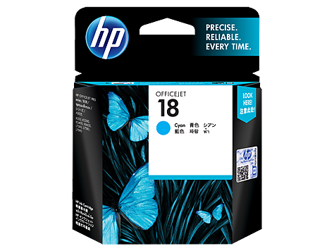 HP 18 Cyan Original Ink Cartridge
