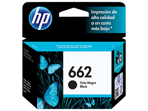 Cartucho original de tinta negra HP 662 Advantage