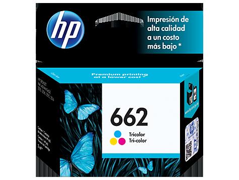 Cartucho original de tinta tricolor HP 662 Advantage