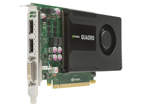 NVIDIA Quadro K2000 2GB DL-DVI+2xDP Graphics Card (C2J93AA) | HP® Africa