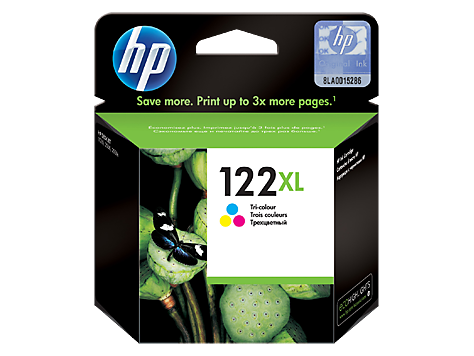 HP 122XL High Yield Tri Color Original Ink Cartridge