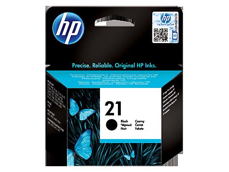 Čierna originálna atramentová kazeta HP 21