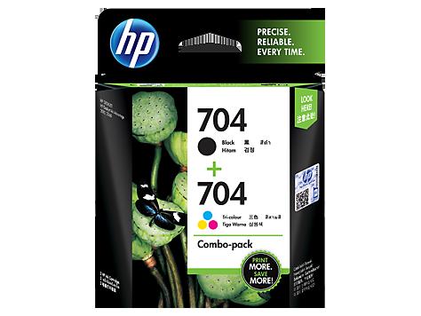 Hp 704 2 Pack Black Tri Color Original Ink Advantage