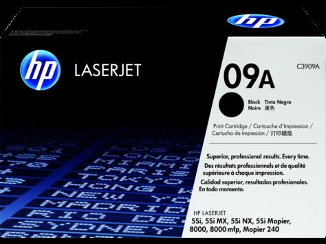 Оригинальный лазерный картридж HP 09A LaserJet, черный