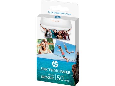 HP Sprocket Photo Paper-50 sticky-backed sheets/2 x 3 in