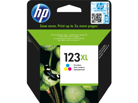 HP 123XL High Yield Tri-color Original Ink Cartridge