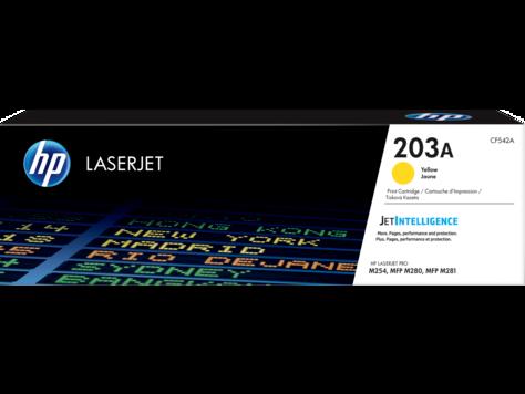 Cartucho de tóner Original HP LaserJet 203A amarillo