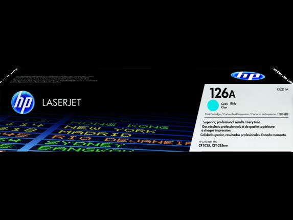 Cartucho de toner LaserJet ciano HP 126A original