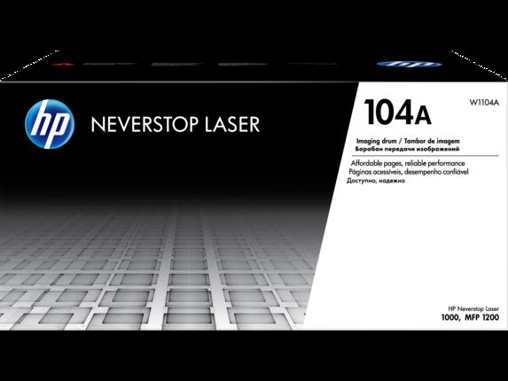 Tambor de creación de imágenes láser original HP 104A negro