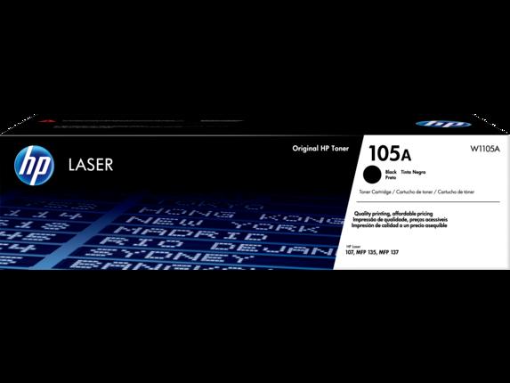 Cartucho de tóner láser original HP 105A negro