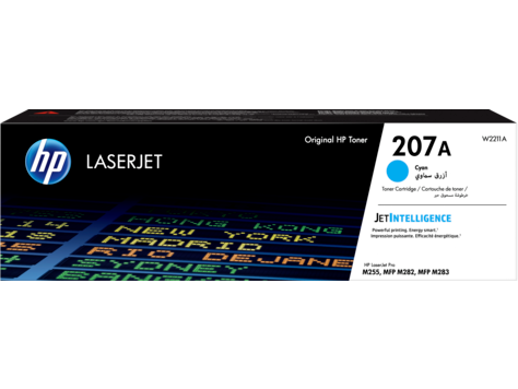 HP 207A, Оригинальный лазерный картридж LaserJet, голубой