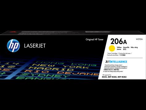 Cartucho de tóner original HP LaserJet 206A, amarillo